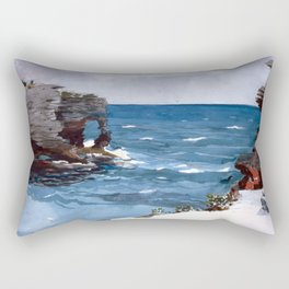 Rocky Shore, Bermuda Rectangular Pillow
