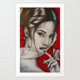 Lady Red Art Print