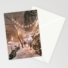 Snow - New York City - East Village Stationery Cards