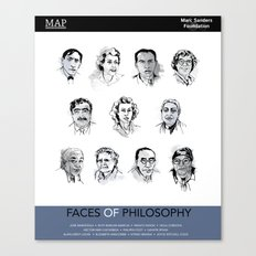 MAP Faces of Philosophy Poster Canvas Print