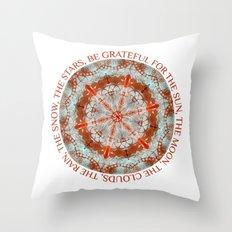 Gratitude One Throw Pillow