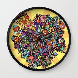 Pizza! Pizza! Wall Clock