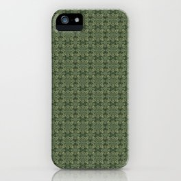 An abundance of flowers on a dark emerald green - manadala - green, jade 4 iPhone Case