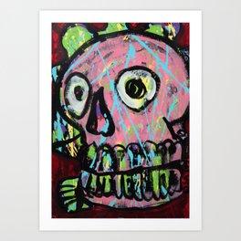 King Skull 2 Art Print