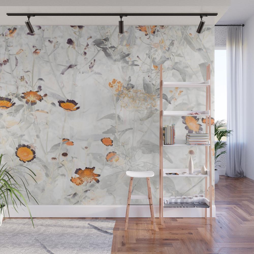 Wild Flower Vii Wall Mural by Amini54 WMP8331572