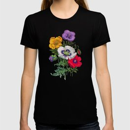 Colorful poppies T-shirt