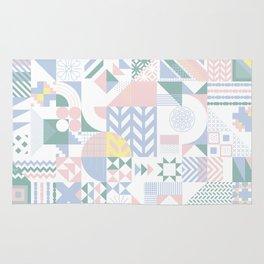 Retro Contemporary Geometrical Pattern Rug