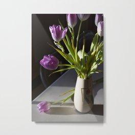 Shadowed Tulips Metal Print
