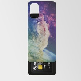 Astronaut dissolving through space Android Card Case