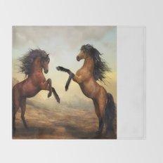 Wild Horses Throw Blanket