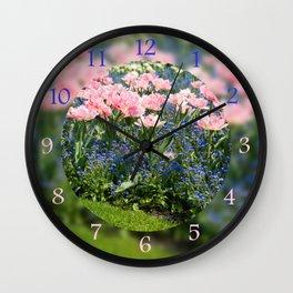 Foxtrot tulips blooming in garden Wall Clock