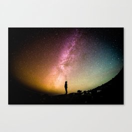 Inspired While Looking Up At The Star and Milky Way Canvas Print