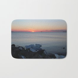 Late winter - early spring sunset Bath Mat