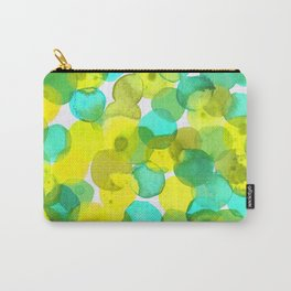 Watercolor Circles - Yellow and Mint Green Carry-All Pouch