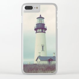 Oregon Lighthouse Clear iPhone Case