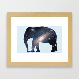 Galaxy Elephant Framed Art Print