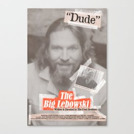 Lebowski Tabloid Canvas Print