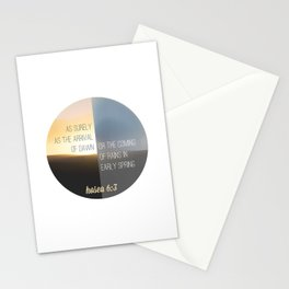 Hosea 6:3 Stationery Cards