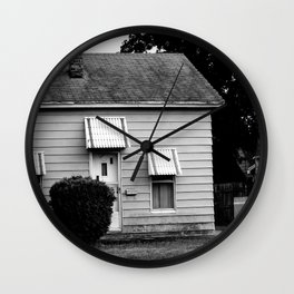 the house on the end of cabbage drive Wall Clock