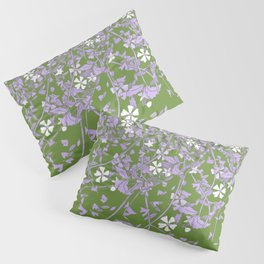 Genderqueer Pride Scattered Falling Flowers and Leaves Pillow Sham