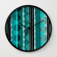 road Wall Clocks featuring Road by JuniqueStudio