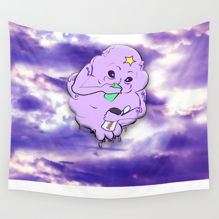 Meanwhile in Lumpy Space Wall Tapestry