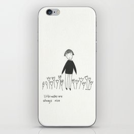 little walks iPhone Skin