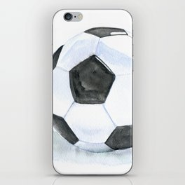 Soccer Ball Watercolor iPhone Skin