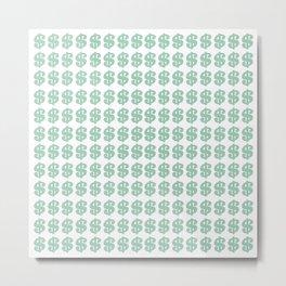 Mint Money Repeat Metal Print