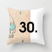30 rock Throw Pillows featuring 30. by Jim Lockey