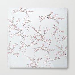 SAKURA LOVE - GRUNGE WHITE Metal Print