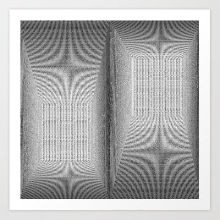 Binary Rooms Art Print