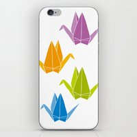 origami iPhone & iPod Skins featuring ORIGAMI by taichi_k