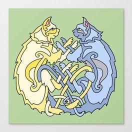 Celtic Cats Canvas Print