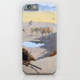Frederic Remington - Fight for the Waterhole - Digital Remastered Edition iPhone Case