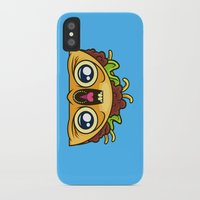 taco iPhone & iPod Cases featuring Excited Taco by Artistic Dyslexia