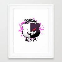 dangan ronpa Framed Art Prints featuring Dangan Ronpa by zamii070