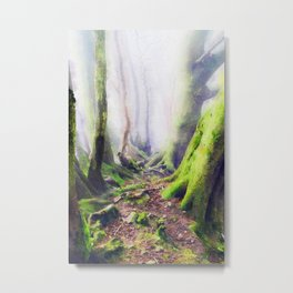 Magical forest watercolor painting Metal Print