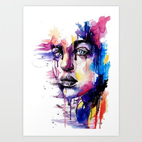 Colored soul Art Print