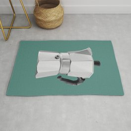 Coffee Moka Pot polygon art Rug
