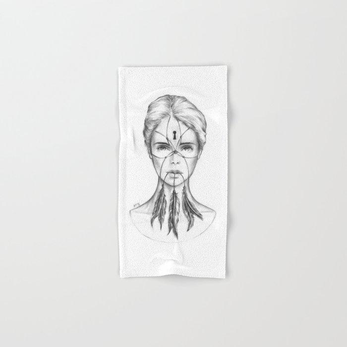 Dreamkeeper (B/W) Hand & Bath Towel