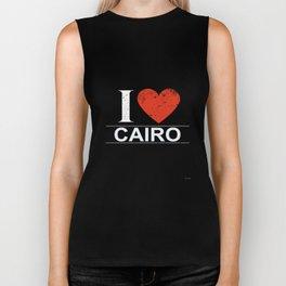 I Love Cairo Biker Tank