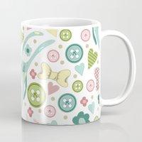 rabbits Mugs featuring Funny rabbits by Julia Badeeva