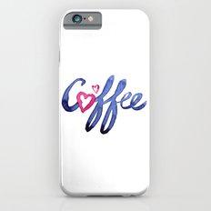 Coffee Lover Typography Slim Case iPhone 6s