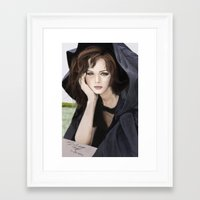 gilmore girls Framed Art Prints featuring Gilmore Girls by Fairy L.