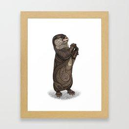Infatuated Otter Framed Art Print