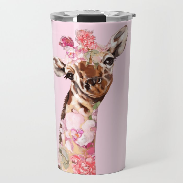 Flower Giraffe Travel Mug by bignosework | Society6
