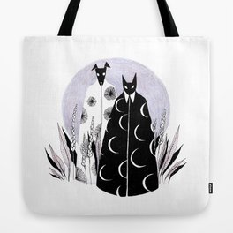 Moon Cat and Sun Dog Tote Bag