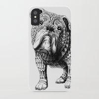english bulldog iPhone & iPod Cases featuring English Bulldog by BIOWORKZ