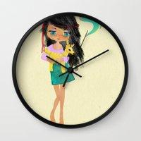 friendship Wall Clocks featuring friendship by Elisandra